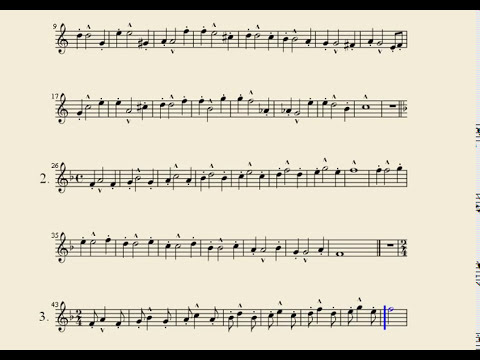 Partitura Trompeta Arban leccion 1-2-3 Syncopation