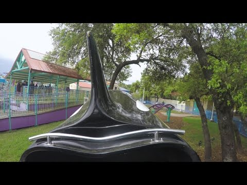 [4K] Shamu Express Coaster, SeaWorld San Antonio