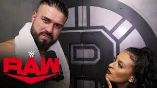 Andrade reacts to sneak attack: Raw Exclusive, Nov. 18, 2019