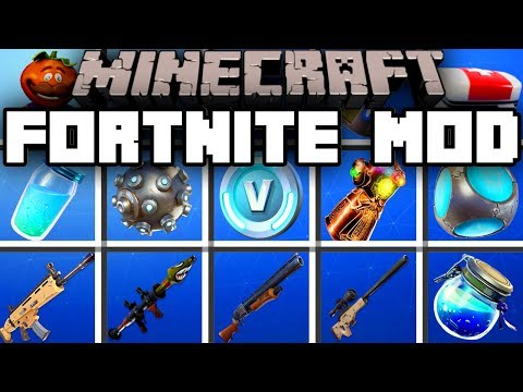 Minecraft FORTNITE MOD   BATTLE FOR V-BUCKS!   Modded Mini-Game