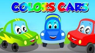Colors Song | Little Red Car Cartoons | Kindergarten Nursery Rhymes For Children