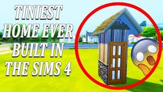 TINIEST HOME EVER BUILT IN THE SIMS 4 👍😱 #thesims4 #thesims #sims4