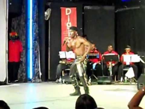 Fuhnominon new Barbados Soca artiste at Celebration Time Judging night 2013