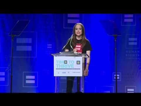 Ellen Page Joins Hrcf's Time To Thrive Conference video