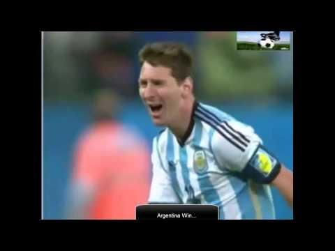 Javier Mascherano Cry Llorando Gritos y Leo Messi Reacción Después de Argentina gana vs Holanda 2014