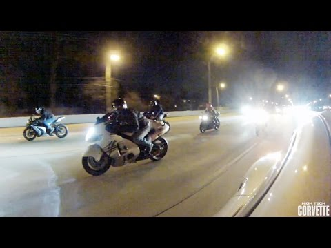 1200hp Porsche Destroys a Pack of Motorcycles