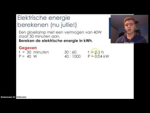 Vermogen, elektrische energie en energiekosten berekenen