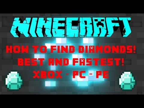 Minecraft - How to Find Diamonds, Gold, and Iron Fast and Easy - Xbox/PC/PE