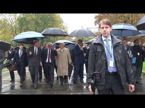 U.S. Secretary of State John Kerry tours the Wall Museum in Berlin
