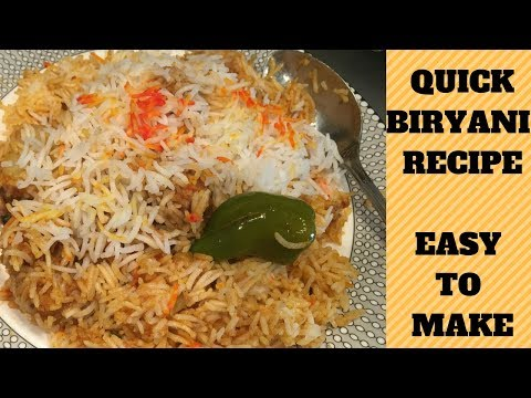 QUICK BIRYANI RECIPE | PAKISTANI MOM | FARYAL HASSAN