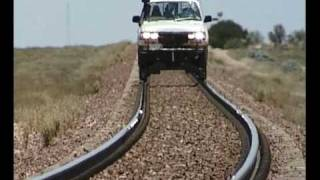 Rding the rails in style   Nullarbor  Australia