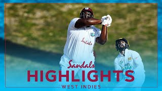 Extended Highlights - West Indies vs Sri Lanka | Cornwall 60* As WI Build | Sandals 1st Test Day 2
