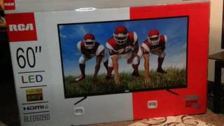 60 inch RCA LED television unboxing/review
