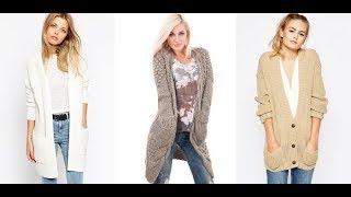 Вязание спицами для женщин модные модели 2018 кардиган 75