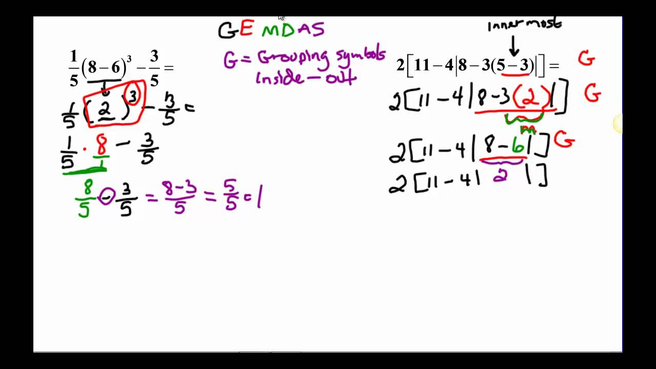 order of operations with exponents worksheets