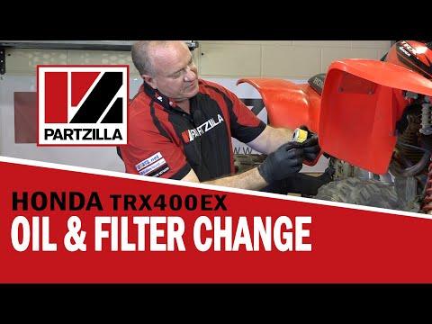 How To: Honda ATV Oil Change & Oil Filter Change - TRX | Partzilla.com