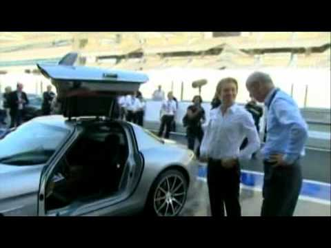 Nico Rosberg Tests Mercedes SLS AMG