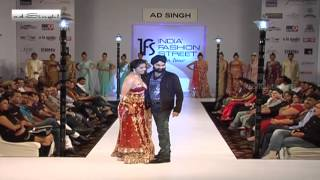 AD Singh with the Show Stopper Bhoomika Chawla - Indian Fashion Street