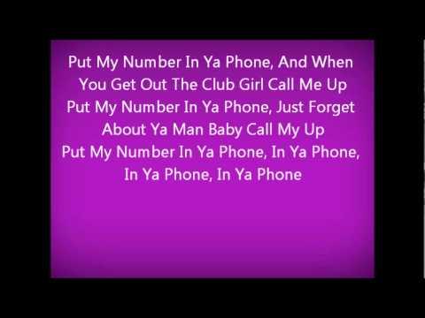 In ya phone- Trey Songz feat fabolous lyrics