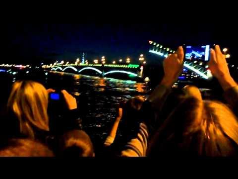 Разведение Троицкого моста 20.05.2012 ночь музеев Спб