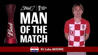 Luka MODRIC (Croatia) - Man of the Match - MATCH 23