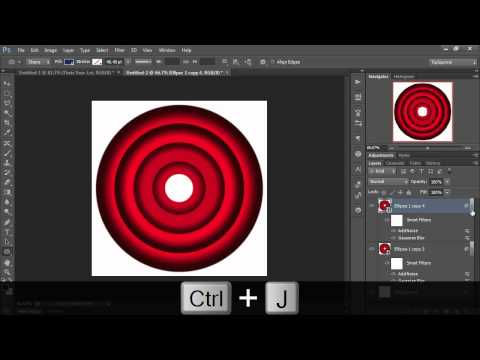 Concentric Circles with Photoshop