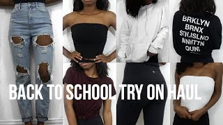 BACK TO SCHOOL TRY ON CLOTHING HAUL 2017-18