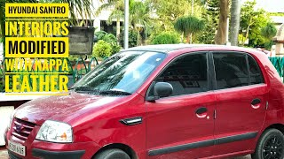 Modified Hyundai santro|New nappa leather seat cover| First Vlog |Cheap rate car accessories patna