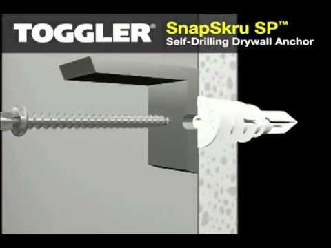 SnapSkru® Self-Drilling Drywall Anchors