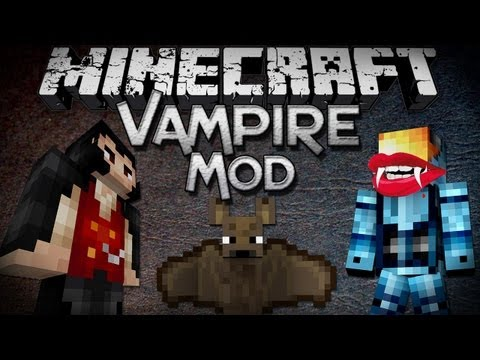 Minecraft Mod Showcase: Vampire Mod - Kill Vampires and Drink Blood!
