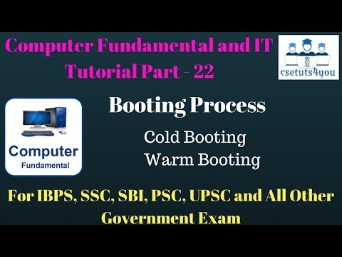 Computer Fundamental and IT Tutorial Part - 22 Booting Process