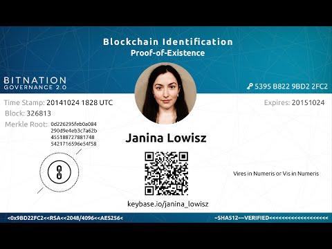 World's First Blockchain ID - LIVE Demonstration