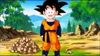 Goten Throws Rocks at Gohan (1080p)