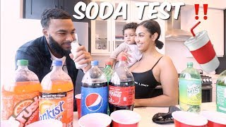GUESS THAT SODA BRAND CHALLENGE ft. BABY LEGEND | LOSER HAS TO DRINK BABY MILK