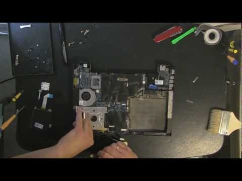 DELL E4300 laptop take apart video. disassemble. how to open. video disassembly