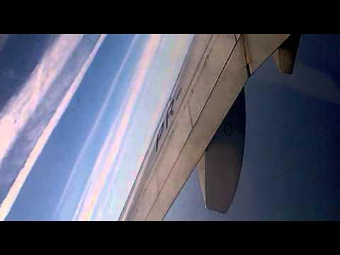 Sobrevoando Santa Catarina no avião.