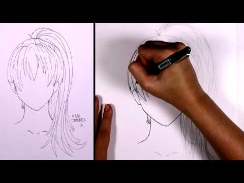 How to draw manga hair - Ponytail (girl) | MLT