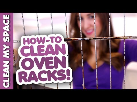 How to Clean Oven Racks! Kitchen Cleaning Ideas (Clean My Space)