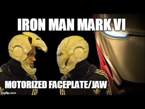 Ironman Helmet Motorized Faceplate/Jaw