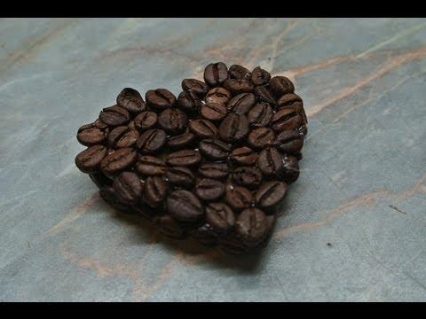 Dekorace z kávových zrnek - diy - coffee decorations - YouTube