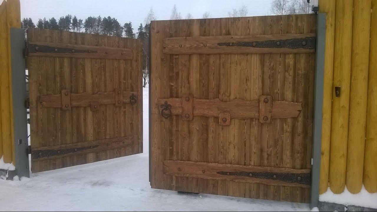 Ютуб деревянные ворота своими руками 73