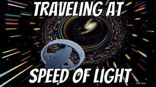 Light Speed Travel Visualized