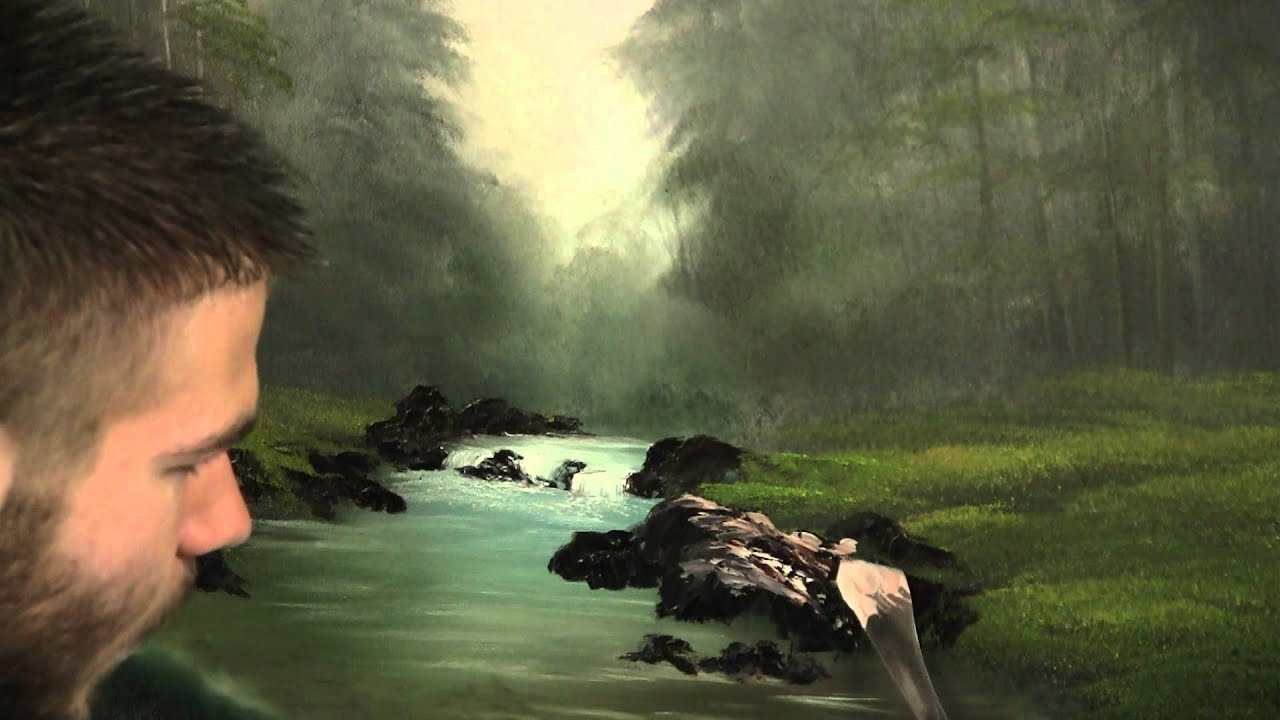 Paint With Kevin Hill Stream In The Woods