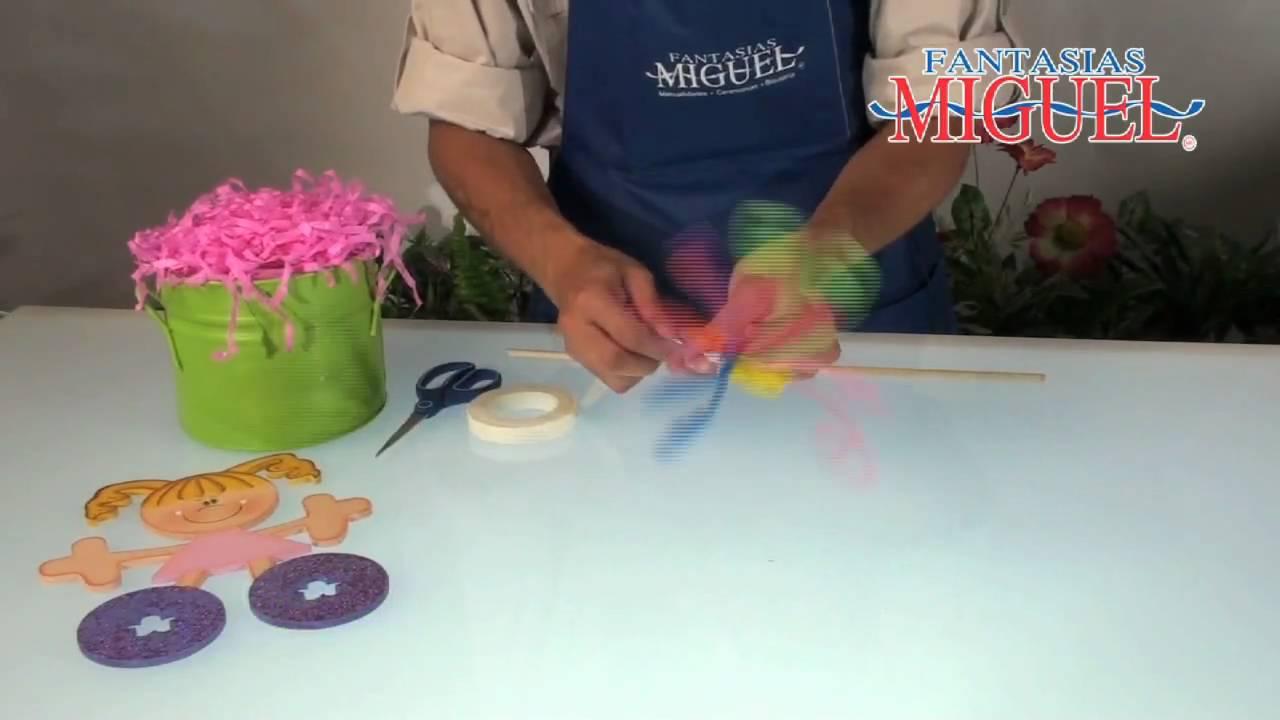 Como hacer un centro de mesa infantil youtube - Hacer cabecero infantil ...