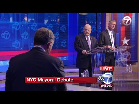 New York City Mayoral Debate (Pt 1) - Bill de Blasio vs Joe Lhota Debate 2013