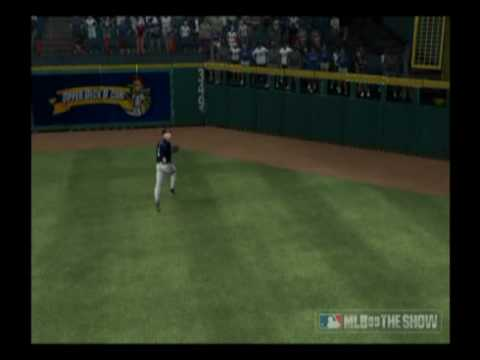 Corey Hart robs Hank Blalock in MLB 09 the show