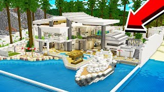 HOW TO BUILD A MODERN REDSTONE BEACH HOUSE!