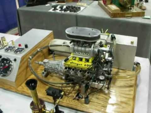 how to make a mini v8 engine