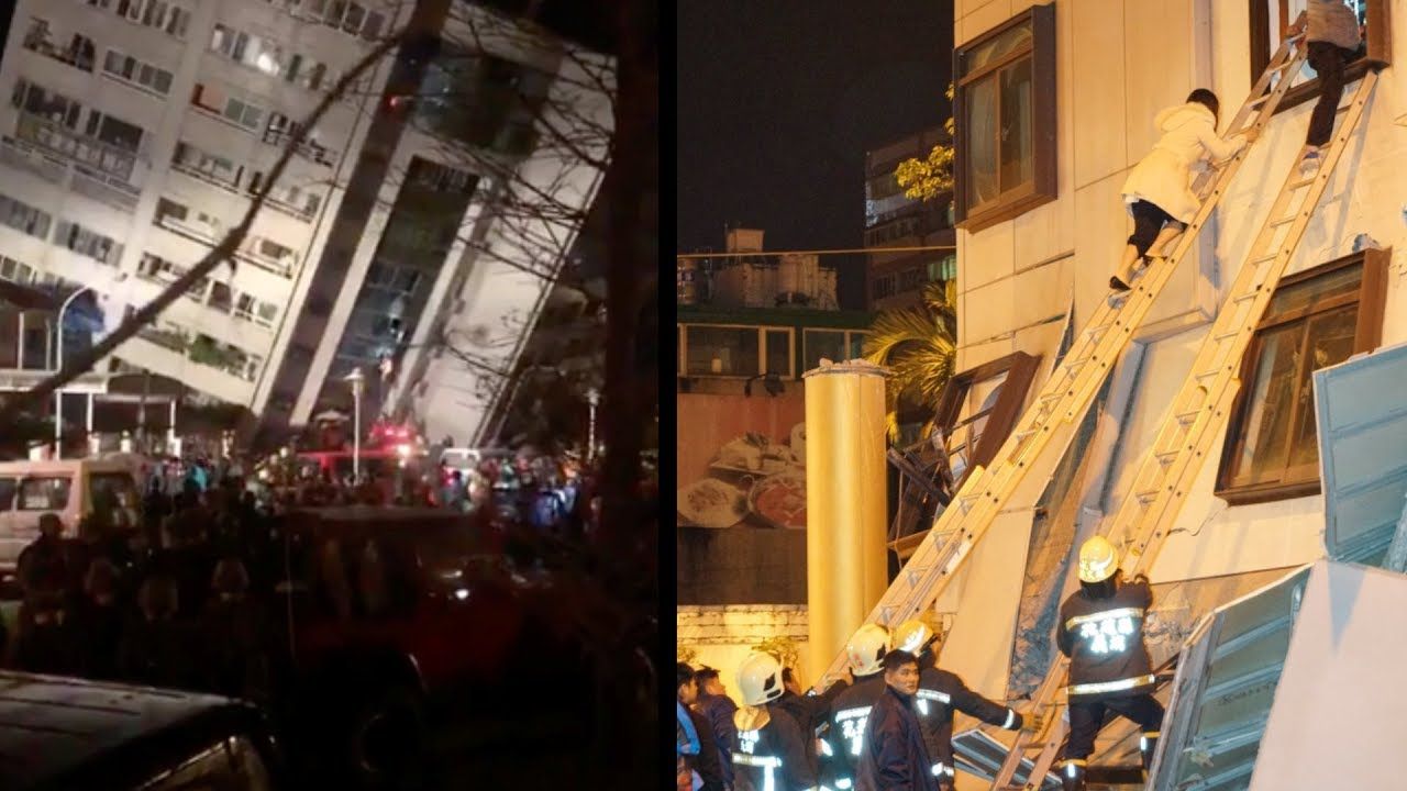 People pulled out of damaged buildings as Taiwan suffers 6.4 magnitude quake