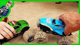 Monster Trucks Explore the Shore!